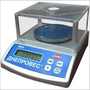 Весы лабораторные (ювелирные) ДНЕПРОВЕС ФЕН-600Л