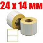 Термоэтикетка 24 мм Х 14 мм (1000шт)