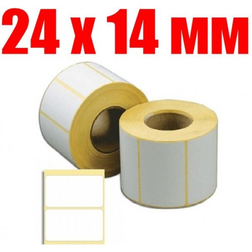 этикетка 24 мм Х 14 мм