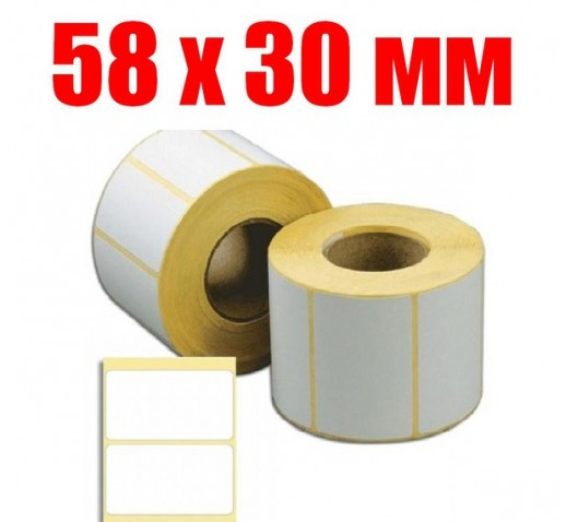 Термоэтикетка 58 мм Х 30 мм (1000шт)