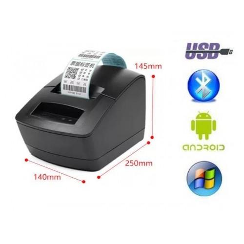 БЕСПРОВОДНОЙ ПРИНТЕР ЭТИКЕТОК И ЧЕКОВ PT2120T USB+Bluetooth