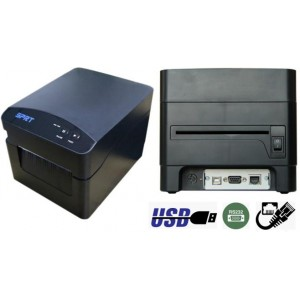 Принтер этикеток SPRT SP-TL52M ETHERNET+USB+COM