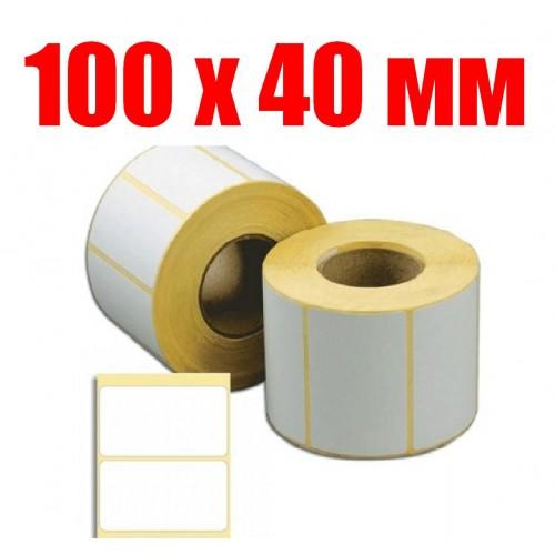 Термоэтикетка 100 мм Х 40 мм (1000шт)