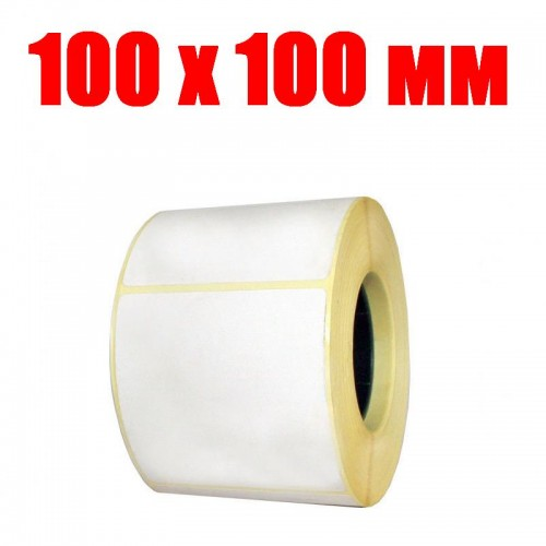 Термоэтикетка 100 мм х 100 мм (500шт)