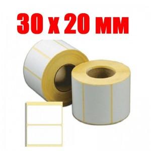 Термоэтикетка 30 мм Х 20 мм (2000шт)