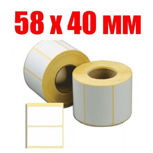 этикетка 58 мм Х 40 мм (1000шт)