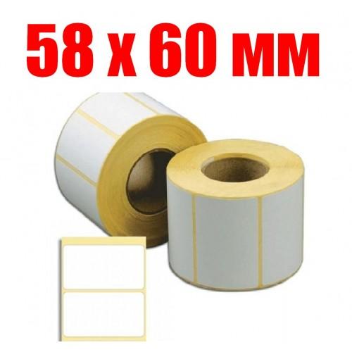 этикетка 58 мм Х 60 мм