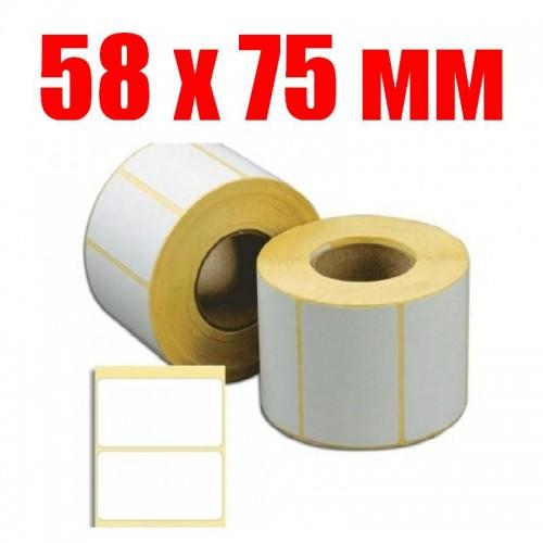 Термоэтикетка 58 мм х 75 мм (500шт)