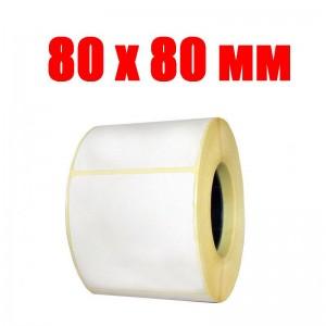 Термоэтикетка 80 мм х 80 мм (500шт)