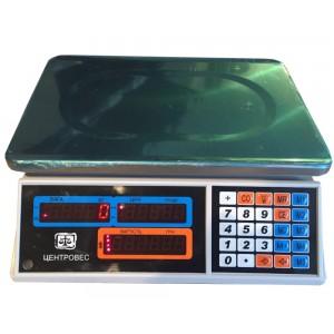 Весы торговые электронные ВТЕ-Центровес-15Т1-ДВ-(СВ)