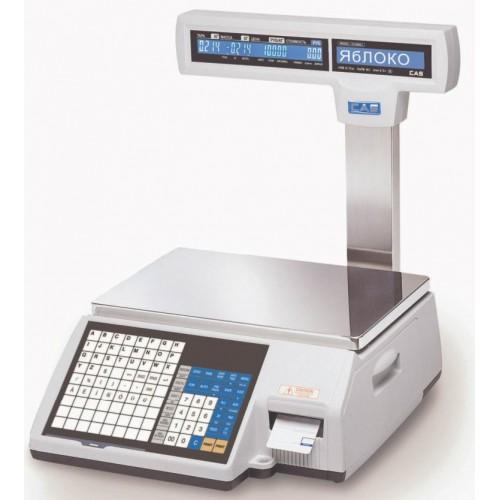 Б/У Весы торговые с печатью этикетки CAS CL5000