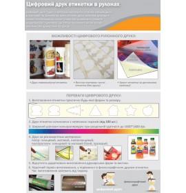цифровая печать этикетки в рулонах
